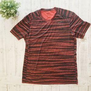 Nike Dri Fit Crew Neck Short Sleeve Orange Black